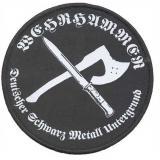 Wehrhammer - Deutscher Schwarz Metall Untergrund (Patch)