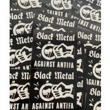 Black Metal against Antifa Sticker (100x Propaganda-Sticker)
