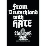 From Deutschland with Hate Sticker (100x Propaganda-Sticker)